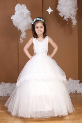 Çocuk Gelinlik Beyaz 601