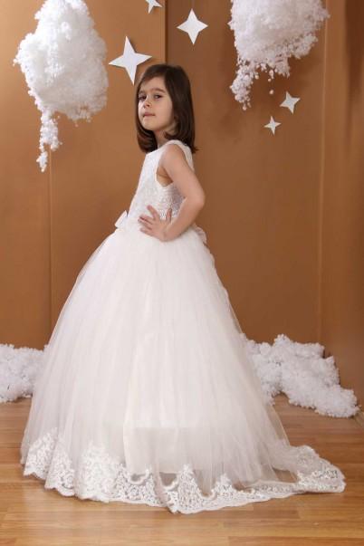 Çocuk Gelinlik Beyaz Renkli 339