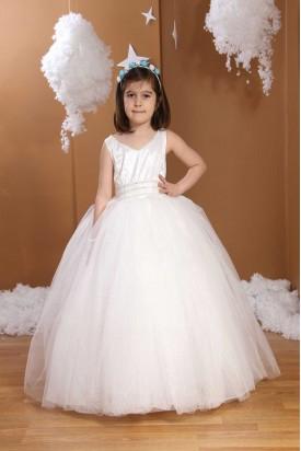 Çocuk Gelinlik Beyaz Renkli 600