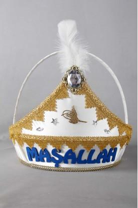 Keçeli Maşallah Yazılı Altın Sünnet Sepeti