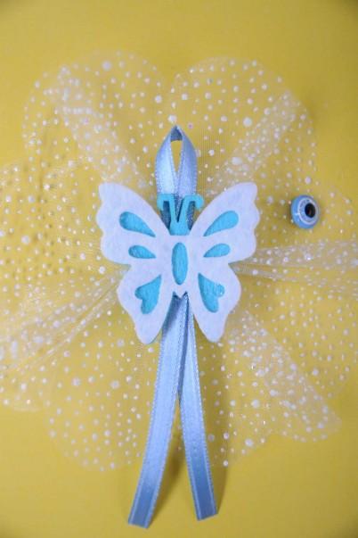 Mavi Kurdeleli Kelebek Sünnet Şekeri