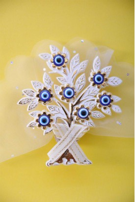 Altın Renkli Kurdeleli Dilek Ağacı Sünnet Şekeri