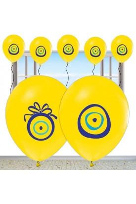 Nazarlıklı Sarı Renkli Sünnet Balonu